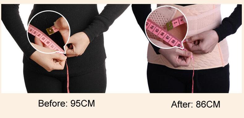 Verwendung von postpartalen Gürtel vor und nach