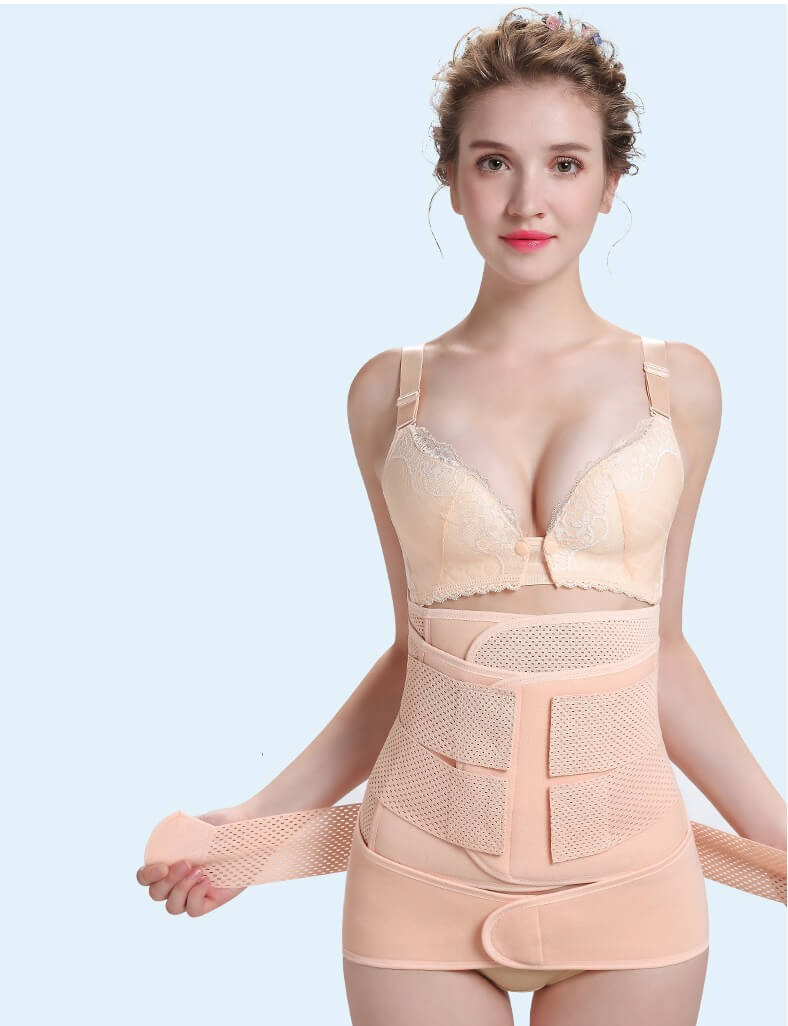 3 in 1 Postpartum Girdle Support Recovery Belly Band Wrap Belt Body Shaper for After Birth Postnatal Waist