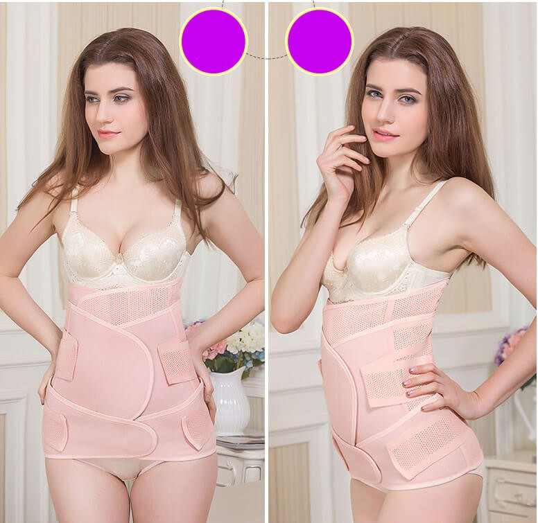 3 in 1 postpartum girdle belt support breathable belly band after delivery tummy belt postpartum wrap for stomach and hips
