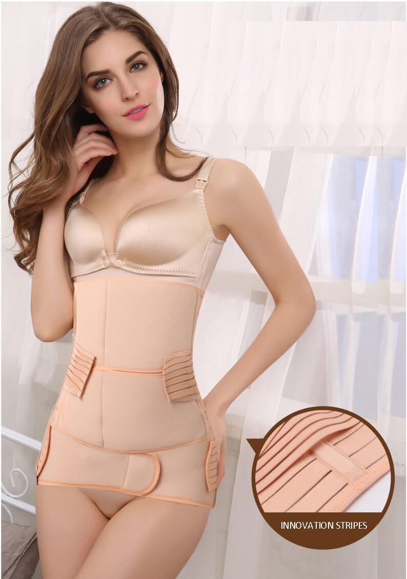 post pregnancy body shaper back support postpartum c section girdle