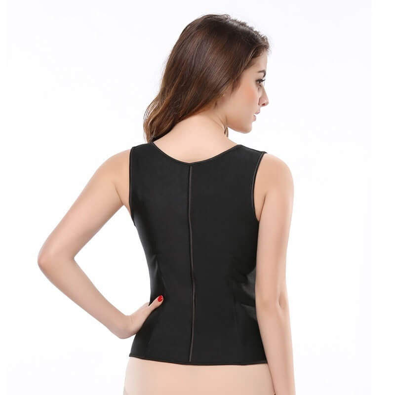 latex waist trainer vest belly cincher compression shapewear tummy body shaper