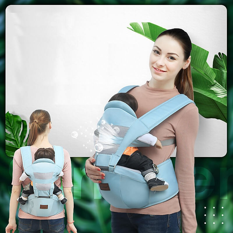 Baby Carrier Ergonomic - Soft Breathable Mesh Comfortable Baby Carrier - Front and Back Carrier with Head Support