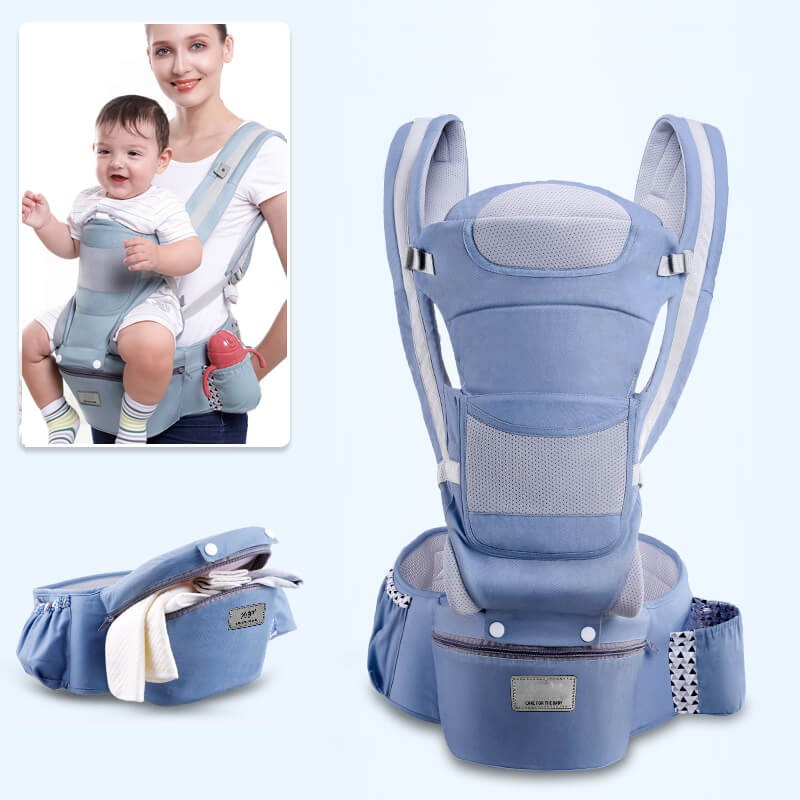 15 In 1 Baby Carrier Wrap - Soft Breathable Cotton Hood  Front and Backpack