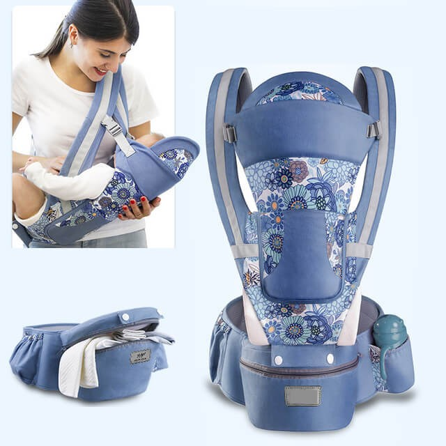 15 In 1 Ergonomic Baby Carrier - Breathable Baby Carrier Backpack for Men Women Hiking Shopping Travelling