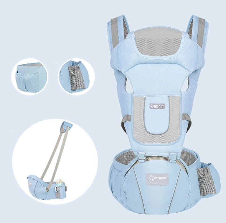 Baby Carrier - Front and Back Carrying - Adjustable, Breathable & Lightweight