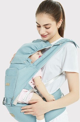 12 in 1 Baby Carrier For Newborn - Breathable Comfortable Wrap Around Child Carrier Backpack