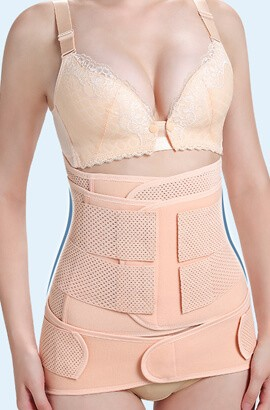 3 in 1 Postpartum Girdle - Support Recovery Belly Band Wrap Belt Body Shaper for After Birth Postnatal Waist