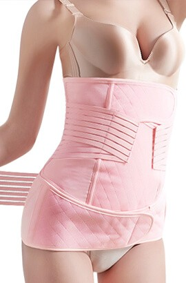 postpartum belly band compression belt - extra firm waist cincher stomach wrap after c section