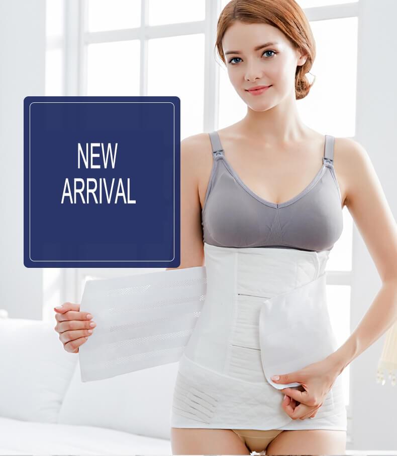 3 In 1 Buikband Na Bevalling - Sluitband Na Bevalling - Katoenen witte postpartum buik / taille / bekken shapewear riem