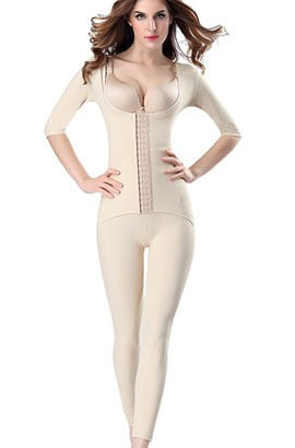Postpartum korset - korte maat verkleinen lichaamsvormende gordel naadloze thermische volledige bodysuit postpartum body shaper C-sectie