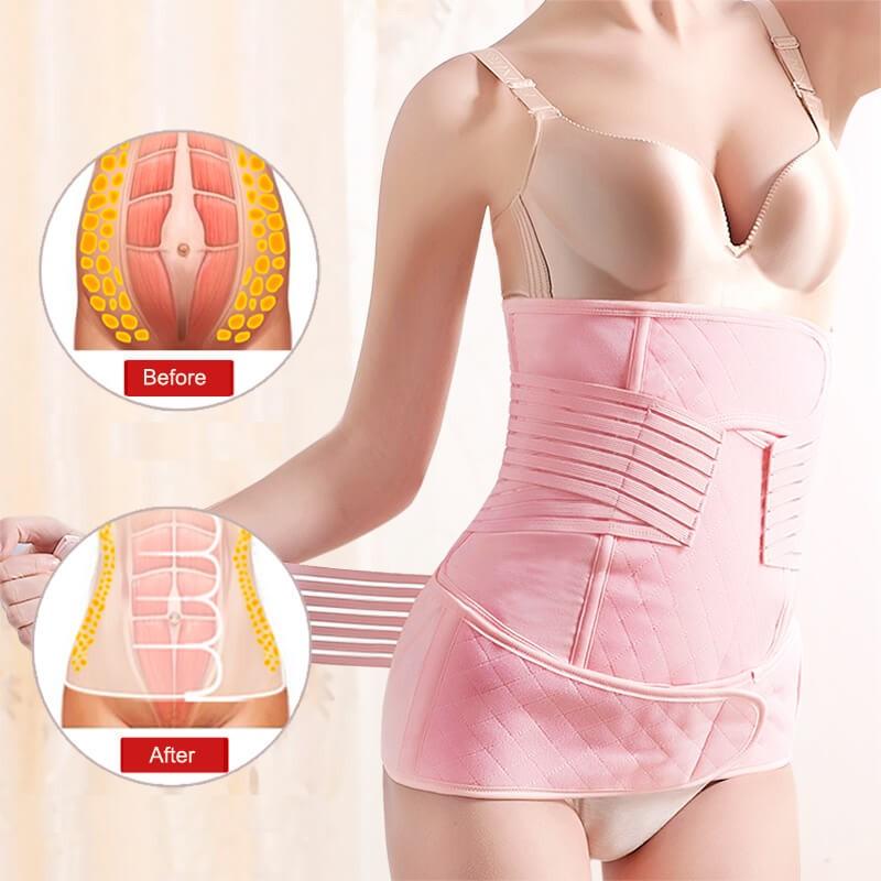 3 en 1 Gaine Après Accouchement - Ceinture Post Partum - ceinture pour femme après accouchement Ceinture de compression ventrale post-partum