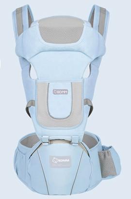 Porte-bébé ajustable - Sac à dos souple et respirant à l'avant et à l'arrière pour garçons et filles