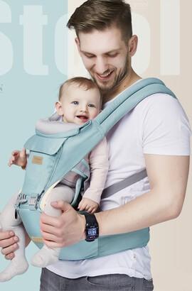 12 En 1 porte bébé physiologique ergonomique - Respirant doux echarpe de portage - echarpe porte bébé dorsal naissance
