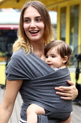 écharpe de portage ergonomique - sac à dos porte bébé - Porte bébé mains libres pour bébé, léger, respirant, douceur