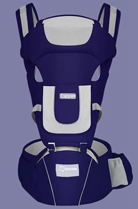 Nosidełko z regulowanym - miękkim i oddychającym plecakiem z przodu iz tyłu dla chłopców i dziewcząt