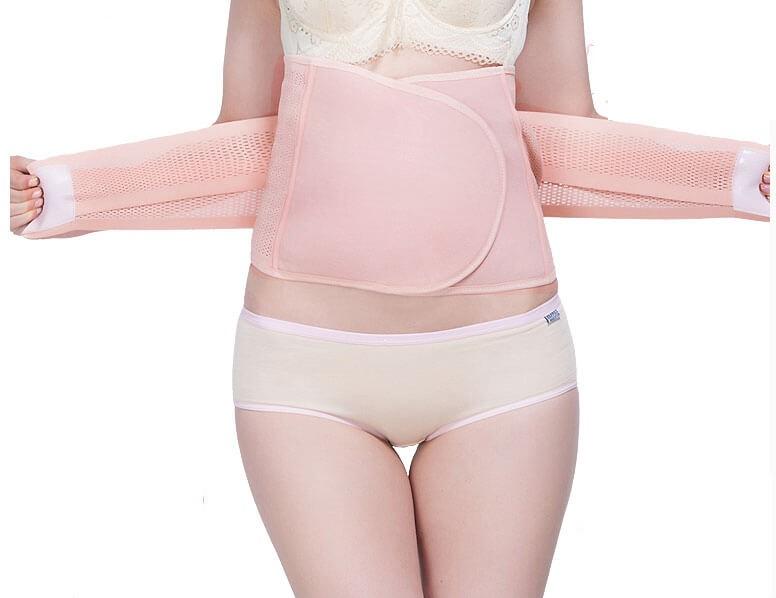 3 in 1 Breathable Bauchband nach Auslieferung Bauchgürtel Postpartum Wrap für Magen und Hüften