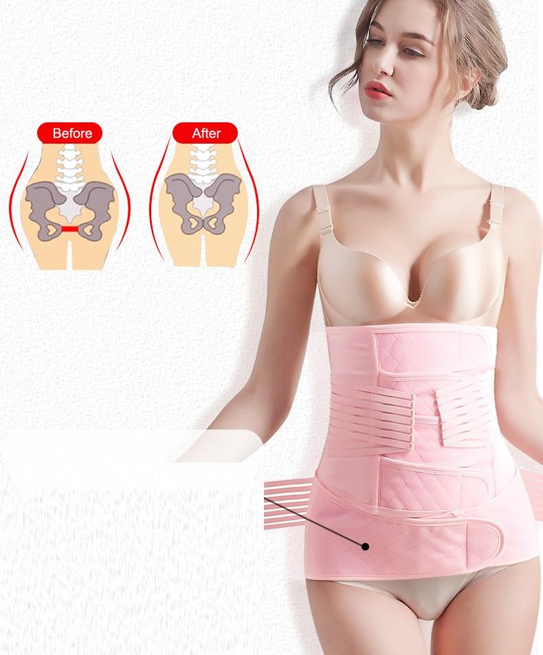 3 in 1 bauchweggürtel nach geburt - rückbildungsgürtel nach schwangerschaft Gürtel reduzieren Bauch nach C-Abschnitt