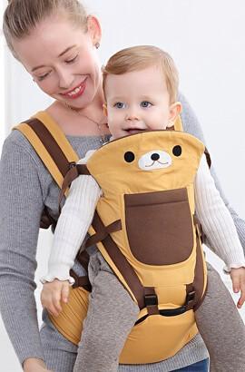 babytrage ab geburt - babytrage kinder - Baumwolle Babytrage Säuglingskomfort Rucksack Schnalle