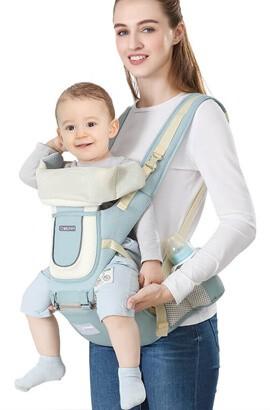 Ergonomische Babytrage - Babytrage ab Geburt - Babyrucksackträger vorne und hinten für Neugeborene