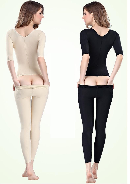 Postpartum Butt Lifter Girdle Seamless Full Body Compression Bodysuit med lång Shaper