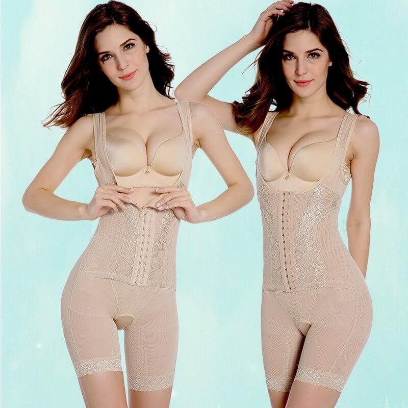 Kvinnor Postpartum Bodysuit Sexig Korsett Slimming Suit Shapewear Body Shaper