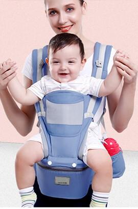 15 I 1 Baby Bärsele - Ergonomisk Bärsele Nyfödd - Mjuk Andas Bomullsfront Och Ryggsäck