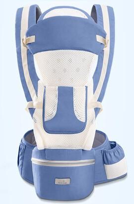 15 i 1 Ergonomisk ryggsäck för babybärare - Andningsbar babyväska med höftstol