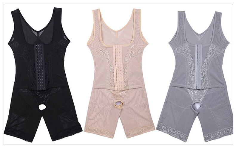 Ženy Postpartum Bodysuit Sexy korzet Chudnutie Suit Shapewear Body Shaper