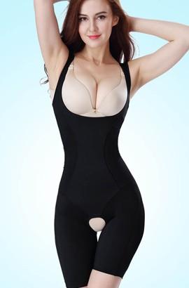 Speciální postpartum Celé tělo Shapewear otevřené Crotch Slim Tights Bodysuit