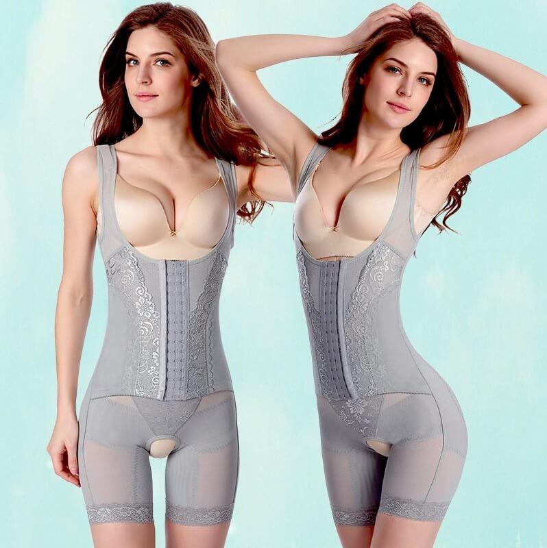 belte etter fødsel - Kvinner postpartum Bodysuit Sexy Korsett Slimming Suit Shapewear Kropp Shaper