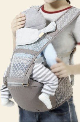 Ergonomisk bæresele - Myke og puste bærere - foran og bak for spedbarn til småbarn
