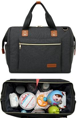 Babybleie Bag Ryggsekk - Multifunksjons / vanntett / Stor kapasitet Reise ryggsekk bleievesker til mamma, pappa