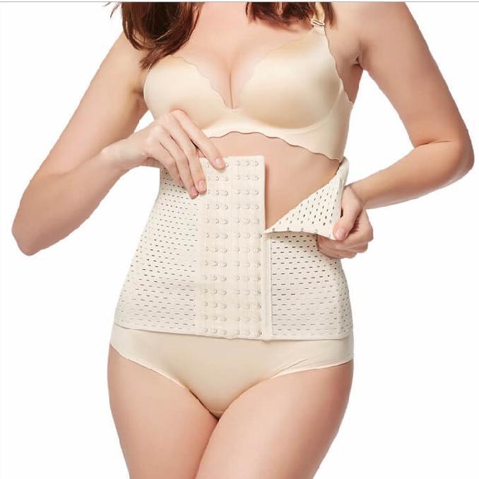 Postpartum belly binding corset