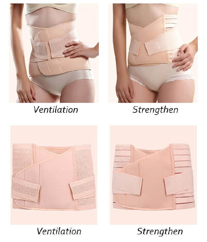 Postpartum girdle for breastfeeding