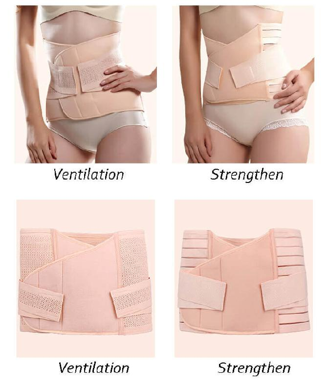 Postpartum girdle for breastfeeding